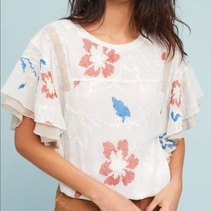 NWTs TINY Anthropologie Margarite Drawstring Top